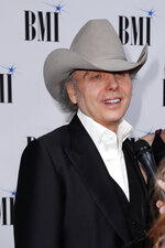 Dwight Yoakam arrives at 67th Annual BMI Country Awards ceremony at BMI Music Row offices on Tuesday, Nov. 12, 2019, in Nashville, Tenn. (Photo by Al Wagner/Invision/AP)
