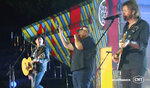 In this video image provided by CMT, Kix Brooks, from left, Luke Combs and Ronnie Dunn perform