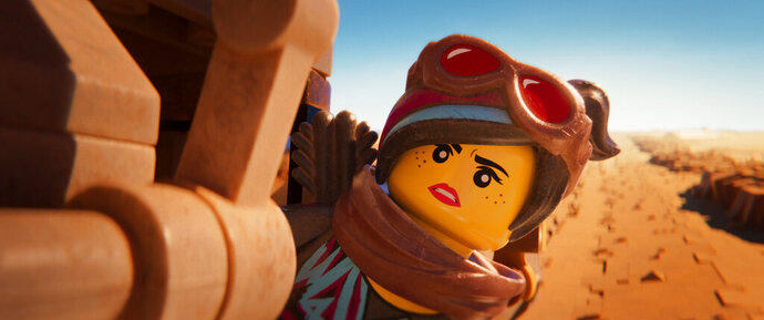 This image released by Warner Bros. Pictures shows the character Lucy/Wyldstyle, voiced by Elizabeth Banks, in a scene from