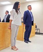 Edinburg, Texas Mayor Richard Molina and his wife Dalia Molina are arraigned before Justice of the Peace Precinct 2 Jaime