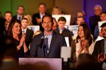 Republican gubernatorial candidate Knute Buehler gives a concession speech to supporters in Portland, Ore., Tuesday, November 6, 2018. (AP Photo/Craig Mitchelldyer)