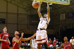 Stanford forward Ziaire Williams (3) dunks against Arizona during the second half of an NCAA college basketball game in Santa Cruz, Calif., Saturday, Dec. 19, 2020. (AP Photo/Jeff Chiu)