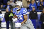 Memphis' Antonio Gibson runs 78 yards for a touchdown against SMU during the second half of an NCAA college football game Saturday, Nov. 2, 2019, in Memphis, Tenn. Memphis won 54-48. (AP Photo/Mark Humphrey)