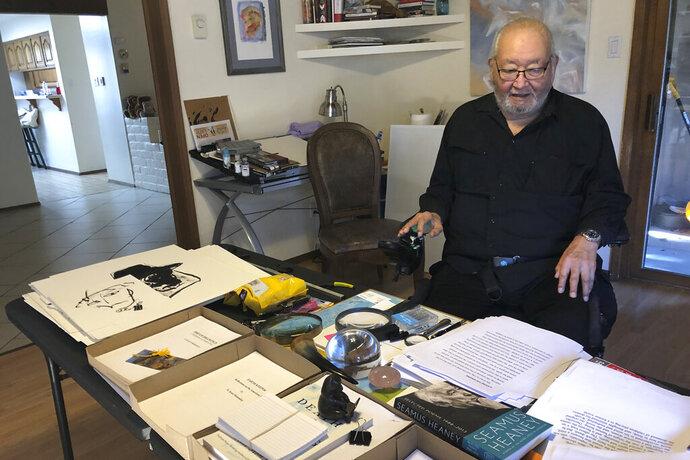 In this Wednesday, Nov. 13, 2019, photo, Kiowa writer N. Scott Momaday, who won a Pulitzer Prize in 1969 for his groundbreaking novel