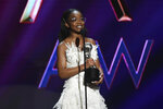 CORRECTS TO SATURDAY, INSTEAD OF FRIDAY Marsai Martin wins the award for outstanding supporting actress in a motion picture for