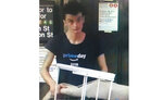 FILE - This photo released by NYPD shows a person of interest wanted for questioning in regard to the suspicious items placed inside the Fulton Street subway station in Lower Manhattan on Friday, Aug. 16, 2019 in New York.  Chief of Detectives Dermot Shea tweeted Saturday, Aug. 17, that the man seen holding one of the rice cookers in surveillance video was taken into custody. The discovery of the cookers Friday led to an evacuation and roiled the morning commute. (NYPD via AP, File)