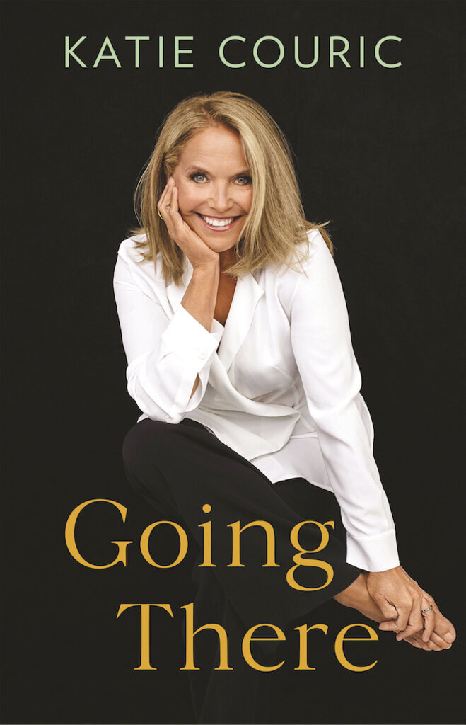 """FILE - This cover image provided by Little, Brown and Company shows """"Going There,"""" a memoir by Katie Couric, releasing Oct. 26, 2021. Little, Brown and Company and Live Nation announced Monday, June 21, that Couric will embark on an 11-city in-person promotional tour for her book, beginning with an appearance at Boston's Orpheum Theatre on Oct. 28. (Little, Brown and Company via AP, File)"""