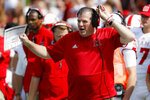 Miami of Ohio head coach Chuck Martin reacts in the first half of an NCAA college football game against Cincinnati, Saturday, Sept. 14, 2019, in Cincinnati. (AP Photo/John Minchillo)