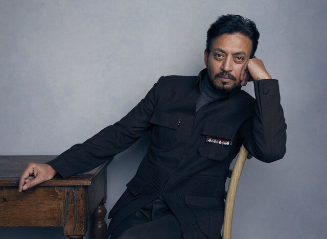 FILE - In this Jan. 22, 2018 file photo, actor Irrfan Khan poses for a portrait to promote the film