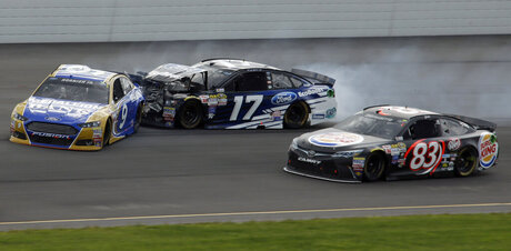 Sam Hornish Jr., Ricky Stenhouse Jr., Matt DiBenedetto