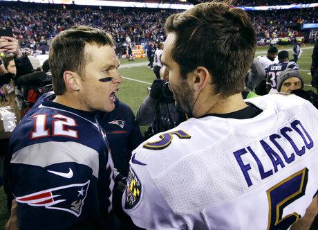 Tom Brady, Joe Flacco