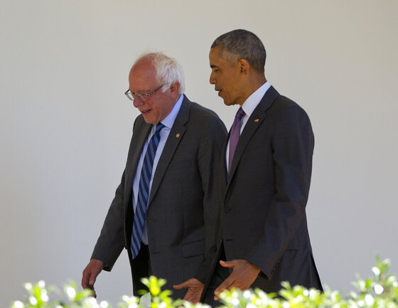 Barack Obama, Bernie Sanders