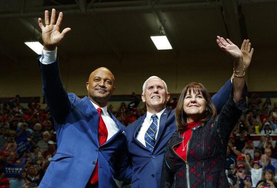 Donald Trump, Curtis Hill, Mike Pence, Karen Pence