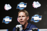 Gonzaga head coach Mark Few speaks during NCAA men's college basketball news conference Friday, March 29, 2019, in Anaheim, Calif. Texas Tech plays Gonzaga in a west regional tournament final on Saturday. (AP Photo/Chris Carlson)