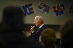 Democratic presidential candidate former Vice President Joe Biden speaks during a campaign event, Tuesday, Jan. 21, 2020, in Ames, Iowa. (AP Photo/Matt Rourke)