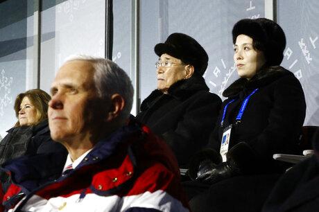 Kim Yong Nam, Kim Yo Jong, Mike Pence