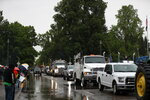 Truckers and loggers opposed to the carbon capping bill hold a rally at the Oregon Capitol Thursday morning, June 27, 2019. - Truckers and loggers opposed to the carbon capping bill hold a rally at the Oregon Capitol Thursday morning, June 27, 2019. (Noble Guyon/The Oregonian via AP)