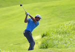 Bryson Dechambeau plays his shot from the fourth tee during the second round of the Tournament of Champions golf event, Friday, Jan. 4, 2019, at Kapalua Plantation Course in Kapalua, Hawaii. (AP Photo/Matt York)