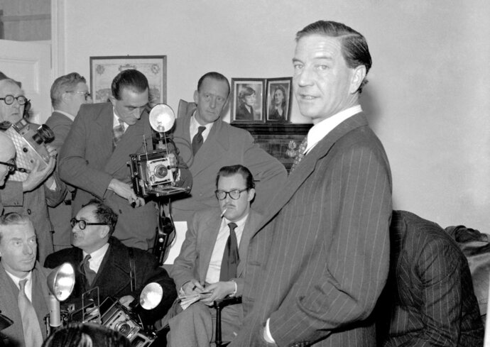 FILE - In this file photo dated Nov. 8, 1955, Former British diplomat and journalist Harold
