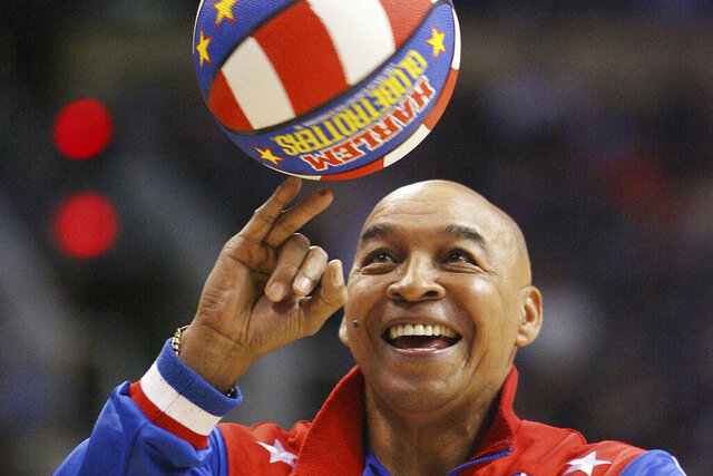 FILE - In this Jan. 9, 2008, file photo, the Harlem Globetrotters' Fred