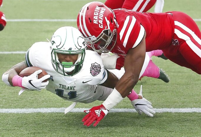 Bradwell's 2 TDs leads Tulane over Louisiana-Lafayette 41-24