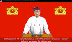 FILE - In this file image made from video by National Unity Government (NUG) via Facebook, shows Duwa Lashi La, the acting president of the National Unity Government (NUG), posted on Tuesday, Sept. 7, 2021, in Myanmar. More than a dozen of villagers including several teenagers have been reported killed in some of Myanmar's deadliest fighting since July between government troops and resistance forces. The fighting near Gangaw township in the northwestern Magway region started on Thursday, Sept. 9. It followed a call for a nationwide uprising by the opposition National Unity Government, which seeks to coordinate resistance to military rule. (National Unity Government via Facebook via AP, File)