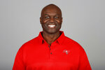 FILE - This is a 2019 file photo showing Todd Bowles of the Tampa Bay Buccaneers NFL football team. All four defensive coordinators who will be trying to shut down high-powered offenses in the NFL playoffs this weekend have been head coaches before, providing valuable experience in the conference championships. (AP Photo/File)