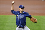Tampa Bay Rays' Charlie Morton winds up during the second inning of the team's baseball game against the Baltimore Orioles, Saturday, Sept. 19, 2020, in Baltimore. (AP Photo/Nick Wass)