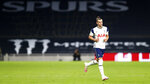 Tottenham's Gareth Bale enters pitch during the English Premier League soccer match between Tottenham Hotspur and West Ham United at the Tottenham Hotspur Stadium in London, England, Sunday, Oct. 18, 2020. (Clive Rose/Pool via AP)