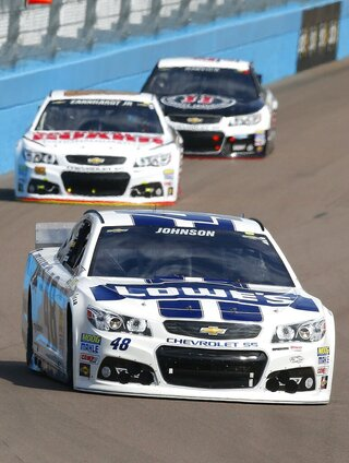 Jimmie Johnson, Dale Earnhardt Jr., Kevin Harvick