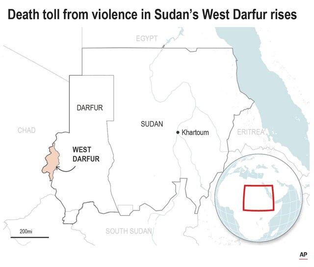 Map locates West Darfur