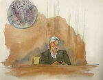 In this courtroom sketch, Judge Richard M. Berman speaking as he denies Jeffrey Epstein bail during a hearing in federal court, Thursday, July 18, 2019 in New York. Judge Berman denied bail for the jailed financier on sex trafficking charges, saying the danger to the community that would result if the jet-setting defendant was free formed the