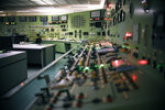 This April 29, 2019 photo shows the abandoned control room, no longer in operation at Vermont Yankee Nuclear Power Station in Vernon, Vt. In January, privately held NorthStar Group Services completed the purchase of Vermont Yankee from New Orleans-based Entergy after federal and state regulators approved the sale of the reactor, closed since 2014. It marked the first permanent transfer of an operating license to a nuclear cleanup specialist for accelerated decommissioning. (AP Photo/Jessica Hill)