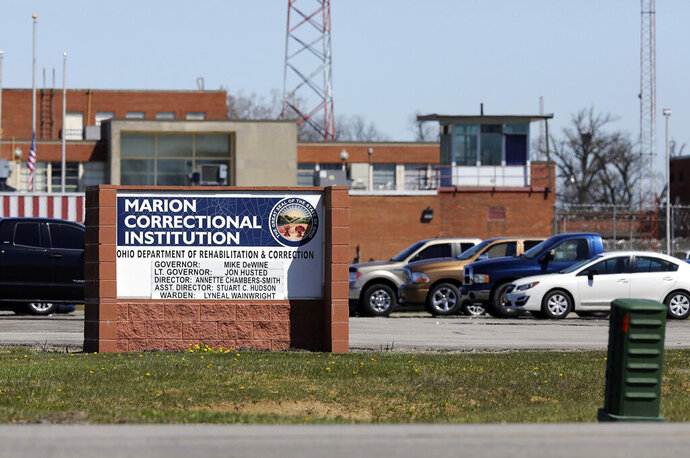 The Marion Correctional Institution is shown Monday, April 20, 2020, in Marion, Ohio. More than 20 Ohio death row inmates have tested positive for COVID-19 in an outbreak flaring up in just the past week, The Associated Press has learned. Virtually all prisons have cases, but the majority have been at Marion Correctional Institution in north-central Ohio and Pickaway Correctional Institution in central Ohio, which has a medical wing. (Fred Squillante/Columbus Dispatch via AP)