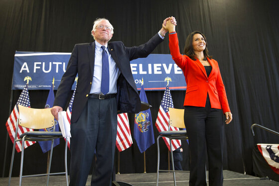 Bernie Sanders, Tulsi Gabbard