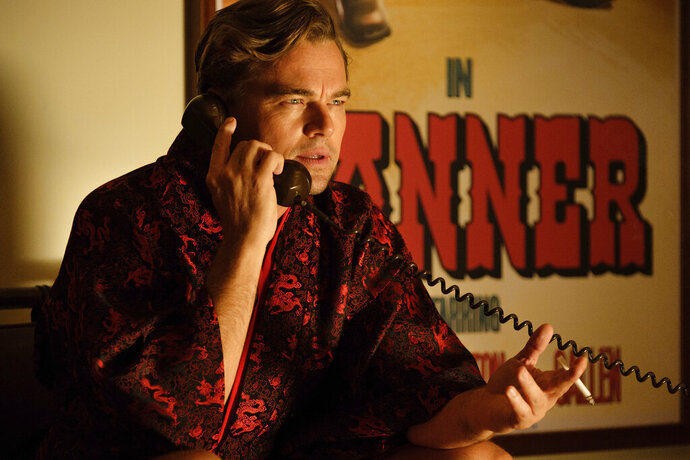 This image released by Sony Pictures shows Leonardo DiCaprio in a scene from