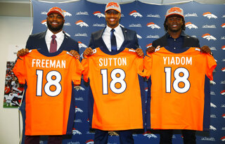 Royce Freeman, Courtland Sutton, Isaac Yiadom