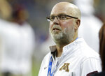 """FILE - In this Dec. 28, 2015, file photo, former Minnesota head football coach Jerry Kill watches from the sidelines during the first half of the Quick Lane Bowl NCAA college football game against Central Michigan in Detroit. Kill says he won't speak again to P.J. Fleck, saying the current Golden Gophers coach is too selfish. Kill spoke to Sirius XM radio Tuesday, Feb 19, 2019, and said he thinks Fleck is """"about himself"""" instead of the players.  (AP Photo/Carlos Osorio, File)"""