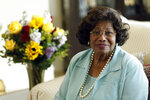 FILE - In this April 27, 2011 file photo, Katherine Jackson poses for a portrait in Calabasas, Calif.. (AP Photo/Matt Sayles, File)