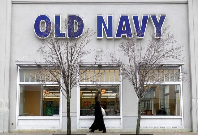 FILE - This Wednesday, Feb. 24, 2010 file photo shows an Old Navy Store in Paramus, N.J. On Thursday, Jan. 16, 2020, Gap Inc. says it no longer intends to spin off Old Navy as a separate entity after determining it would be too costly and complex, especially given the retailer's recent struggles. (AP Photo/Seth Wenig)