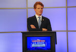 Rep. Joe Kennedy III waits for his debate against his opponent in the Democratic primary for senator from Massachusetts, Sen. Edward Markey, on Monday, June 1, 2020, in Springfield, Mass. (Matthew J. Lee//The Boston Globe via AP, Pool)