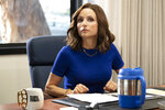 This image released by HBO shows Julia Louis-Dreyfus in a scene from