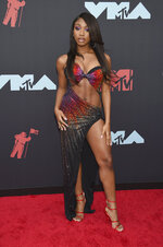 Normani arrives at the MTV Video Music Awards at the Prudential Center on Monday, Aug. 26, 2019, in Newark, N.J. (Photo by Evan Agostini/Invision/AP)