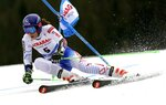 Slovakia's Petra Vlhova competes in the first run of an alpine ski, women's World Cup giant slalom, in Spindleruv Mlyn, Czech Republic, Friday, March. 8, 2019. (AP Photo/Giovanni Auletta)