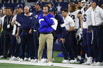 FILE - In this Dec. 15, 2019, file photo, Los Angeles Rams coach Sean McVay walks on the sideline during the second half of the team's NFL football game against the Dallas Cowboys in Arlington, Texas. Big changes are underway in LA despite the Rams' three straight winning seasons under McVay. The now-34-year-old wunderkind dismissed a major portion of his staff after missing the postseason, and he hired untested career assistant Brandon Staley to run his defense. (AP Photo/Roger Steinman, File)