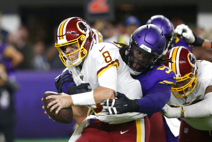 Cook, Vikings wear down Redskins 19-9 for 4th straight win