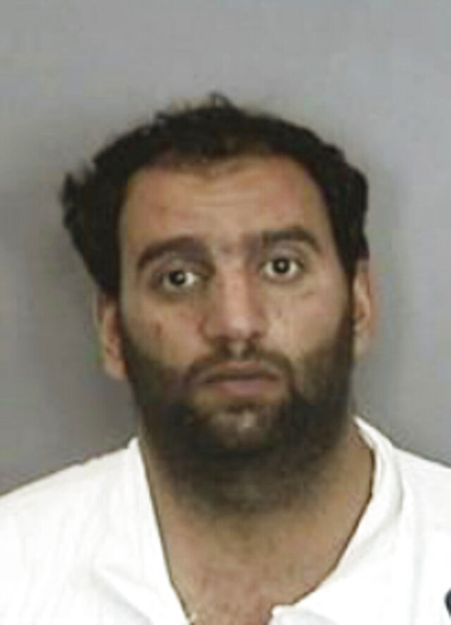 This undated booking photo provided by the Anaheim, Calif., Police Department shows Abdulaziz Munther Alubidy. A woman found dead at the scene of a Southern California car crash was killed before the collision and police have arrested a homicide suspect, authorities said. The body of Jessie Villesca was discovered inside a pickup truck involved in a crash Friday, July 31, 2020, at an intersection in San Diego County, the Orange County Register reported Monday. Investigators suspect the 56-year-old died earlier in the day in Anaheim and was the victim of a homicide, police said, and have arrested the pickup's owner, Abdulaziz Munther Alubidy, on suspicion of her murder. (Anaheim Police Department via AP)