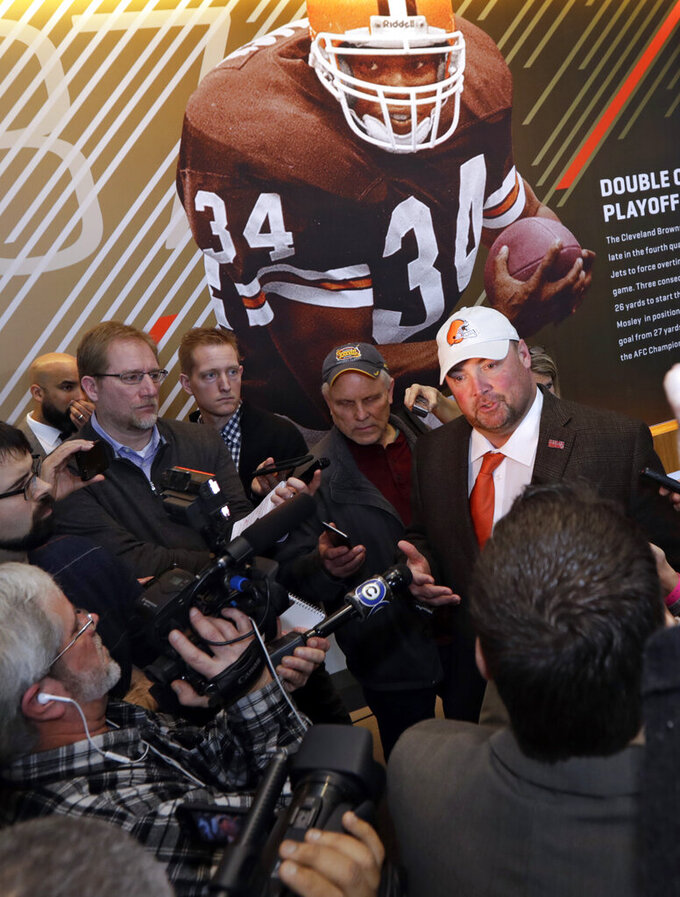 "Browns' Kitchens promises fun and ""we're going to win"""