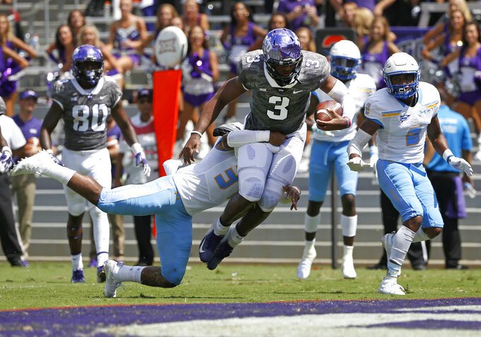 Robinson 5 TDs for No. 16 TCU in 55-7 win over Southern U