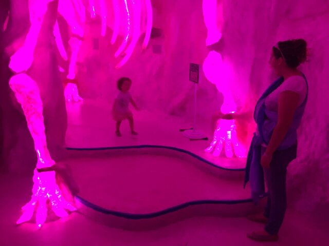 FILE - In this Friday, July 14, 2017 file photo visitors explore Meow Wolf's mazelike exhibition space in Santa Fe, N.M. (AP Photo/Morgan Lee, File)